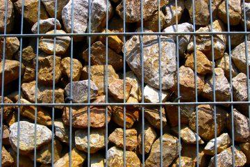 Gabiony - kamienie w ogrodzie